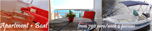 Apartment + Boat Rental Trogir, Okrug Gornji  - 4 persons